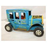 6IN MARX FRICTION BLUE JALOPY W/ DRIVER