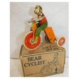 MARX LEVER ACTION BEAR ON TRICYCLE W/ BOX