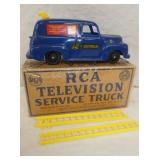 8IN RCA BLUE SERVICE TRUCK W/ LADDERS AND ORIG. BOX