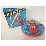 BATTERY OP UFO X-05 FLYING SAUCER W/ BOX
