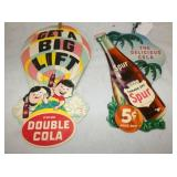 DOUBLE COLA AND SPUR CARDBOARD LIGHT PULLS