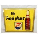 9X12 SAY PEPSI PLEASE SIGN W/ BOTTLE