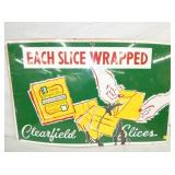 28X44 PORC. CLEARFIELD SLICE CHEESE SIGN