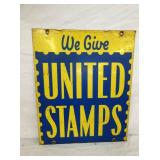VIEW 2 OTHERSIDE UNITED STAMPS SIGN