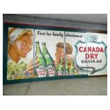 10FT. X 20FT. 3PC. CANADA DRY BILLBOARD SIGN