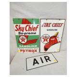 12X18 PORC. SKY CHIEFS, AIR PUMP PLATES