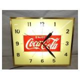 13X16 LIGHTED COCA COLA CLOCK