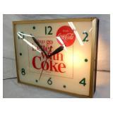 VIEW 2 LIGHTED COKE ADV. CLOCK