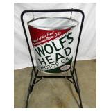 VIEW 2 OTHERSIDE WOLFS MOTOR OIL SIGN