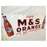 VIEW 2 CLOSEUP PORC. M&S ORANGE DRINK SIGN