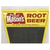 VIEW 2 CLOSEU 1968 MASONS ROOT BEER MENU