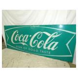 VIEW 3 40X103 COKE FISHTAIL SAMPLER SIGN