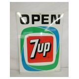 20X27 DOUBLE SIDE 7UP OPEN SIGN