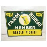 10X13 EMB. FARM BUREAU MEMBER SIGN