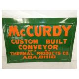 12X18 EMB. LETTERING MCCURDY CONVEYOR SIGN