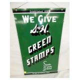 20X33 1954 S&H GREEN STAMPS SIGN