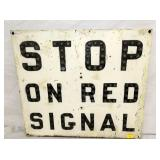23X26 CAT EYES STOP ON RED SIGNAL RR SIGN