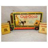 6X11 OLD GOLD CARDBOARD DISPLAY W/ CANS