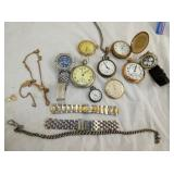 VARIOUS POCKET WATCHES,ELGIN,WALTHAM