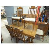 8PC. MATCHING NC MADE DINING SUITE