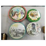 EARLY VARIOUS CANDY TIN W/ NICE GRAPHICS