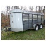 2001 18FT. STOCK TRAILER