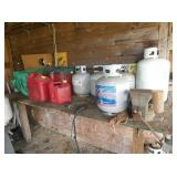 PROPANE TANKS AND GAS CANS