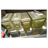 SEVERAL AMMO BOXES FULL OF AMMO