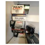 BOXES 9MM AND 38 SPECIAL