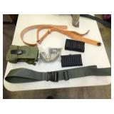 VARIOUS BELTS, AMMO HOLSTERS