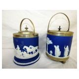 EARLY ENGLISH WEDGEWOOD BISCUIT JARS
