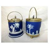 VIEW 2 OTHERSIDE EARLY ENGLISH BISCUIT JARS