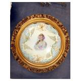 15IN VICTORIAN PORC. W/GOLD FRAME