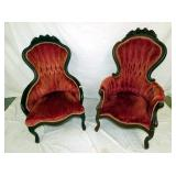 MATCHING WALNUT 2PC. PARLOR CHAIRS