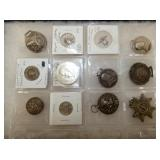 STERLING MEDALIONS, SILVER COINS