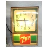 12X19 LIGHTED 7UP CLOCK
