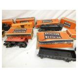 VIEW 2 LIONEL TRAIN ENGINE, CARS W/ BOXES