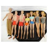 BARBIES AND KEN DOLLS