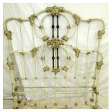 FULL SIZE HEAVY WROUGHT IRON BED