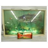 20X14 BUDWEISER LIGHTED FISH SIGN