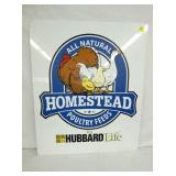 30X36 HOMESTEAD POULTRY FEEDS SIGN