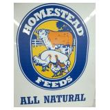 VIEW 2 ALL NATURAL HOMESTEAD FEEDS SIGN