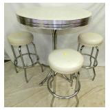 4PC. CHROME DINER TABLE SET