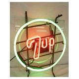 VIEW 2 7-UP 2 COLOR NEON SIGN