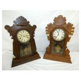 OAK & WALNUT KITCHEN CLOCKS