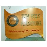 36IN. WOODEN TOM SEELY FURNITURE SIGN