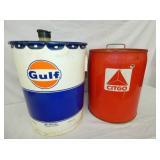 5G. GULF & CITGO CANS