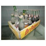 DR. PEPPER CRATE W/ BOTTLES