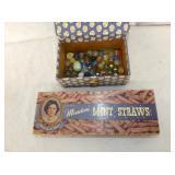 MINT SRAWS BOX W/ MARBLES