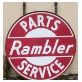 5FT. PORC. RAMBLER PARTS & SERVICE SIGN